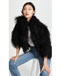Adrienne Landau - Mongolian Lamb Jacket - Lyst