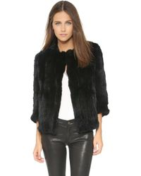 Rachel Zoe - Rabbit Fur Jacket - Lyst
