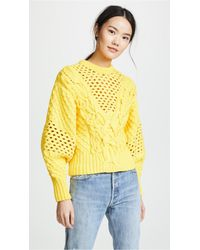 Prabal Gurung - Claire V Neck Panel Knit Top - Lyst