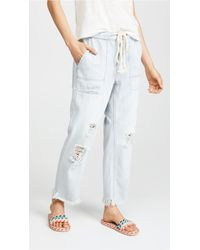 Free People - Northern Sky Pull On Crop Trousers - Lyst