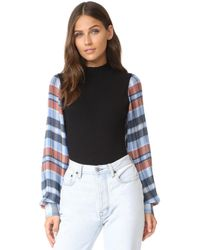 Opening Ceremony - Plaid Long Sleeve Body Suit - Lyst