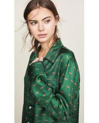 Sleepy Jones - Silk Henry Pajama Shirt - Lyst