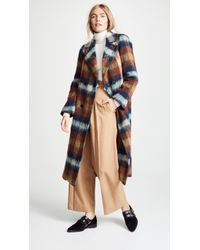 Toga Pulla - Mohair Shaggy Check Long Coat - Lyst