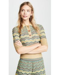 M Missoni - Printed Polo Top - Lyst
