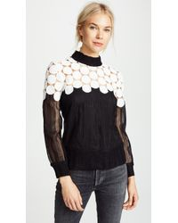 Sea - Penelope Mixed Media Sweatshirt - Lyst