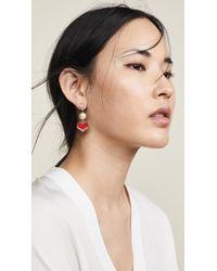 Venessa Arizaga - Happy Heart Earrings - Lyst