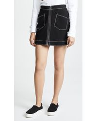 McQ - Contrast Line Skirt - Lyst