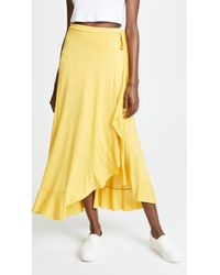 Three Dots - Jersey Wrap Skirt - Lyst
