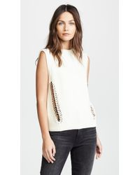 Michelle Mason - Sleeveless Jumper With Chains - Lyst