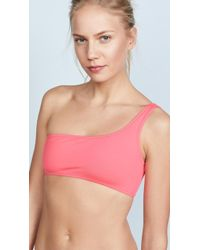 MILLY - Maglificio Ripa Italian Solid One Shoulder Bikini Top - Lyst