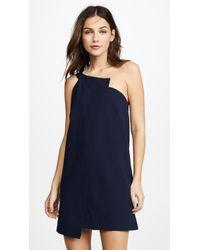Michelle Mason | One Shoulder Shift Dress | Lyst