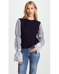 English Factory - Gathered Sleeve Top - Lyst