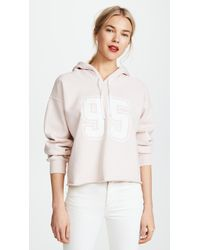 Current/Elliott - The Cropped Hoodie - Lyst