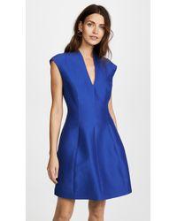 Halston - Cap Sleeve Structured Dress - Lyst