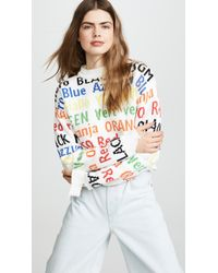 MSGM - Cropped Sweater - Lyst