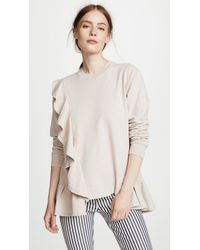 CLU - Pullover With Ruffles - Lyst