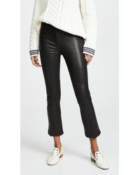 Joe's Jeans - The Cropped Bootcut Leather Pants - Lyst