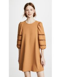 See By Chloé - Pouf Sleeve Dress - Lyst
