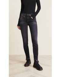 R13 - Alison Skinny Jeans With Uneven Hem - Lyst
