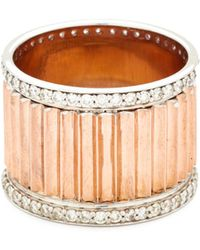 WALTERS FAITH - Clive Wide Diamond Fluted Band Ring - Lyst