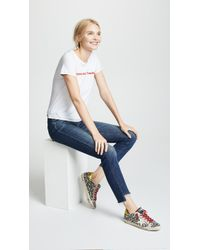 Mother - The Looker Ankle Step Fray Jeans - Lyst