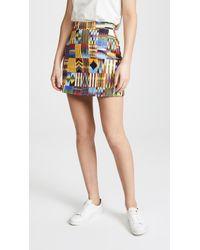 Stella Jean - Patterned Miniskirt - Lyst