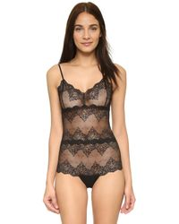 Only Hearts - So Fine Lace Cheeky Bodysuit - Lyst