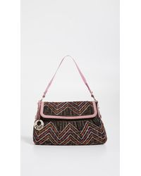 9b03c943d5b8 Fendi Tobacco and White Zucca Canvas Chef Shoulder Bag in Brown - Lyst