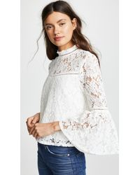 BB Dakota - Jack By Floral Lace Bell Sleeve Top - Lyst