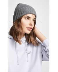 Hat Attack - Cashmere Slouchy Cuff Hat - Lyst
