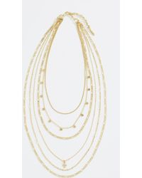 Luv Aj - Hammered Cross Layered Charm Necklace - Lyst