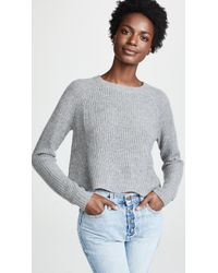 Autumn Cashmere - Scallop Shaker Cashmere Sweater - Lyst