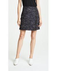 Adam Lippes - Cotton Tweed Wrap Miniskirt - Lyst