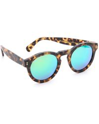 Illesteva - Leonard Matte Mirrored Sunglasses - Lyst