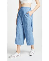 Madewell - Huston Crop Trousers - Lyst