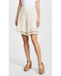 See By Chloé - Ornamental Lace Shorts - Lyst