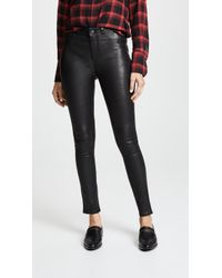 PAIGE - Hoxton Stretch Leather Pants - Lyst