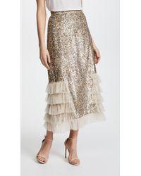 Rodarte - Metallic Sequin Ruffle Skirt - Lyst