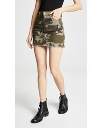 369cd8a7e Kendall + Kylie Camo-print Skirt in Green - Lyst