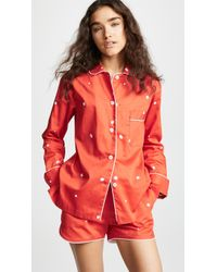 Sleeper - Blur On Red Pj Set - Lyst