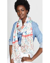 Kate Spade - Blossom Silk Oblong Scarf - Lyst