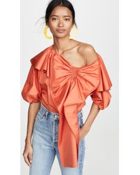 ADEAM - Parachute Bow Blouse - Lyst