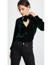 L'Agence - Gisele Tie Neck Blouse - Lyst