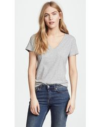 Vince - Essential V Neck Tee - Lyst