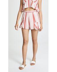 MINKPINK - Stripe Fluted Shorts - Lyst