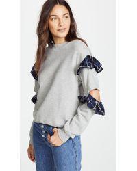 CLU - Ruffle Sweatshirt - Lyst