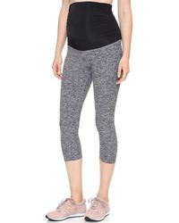 Beyond Yoga - Space Dye Performance Maternity Capri Leggings - Lyst