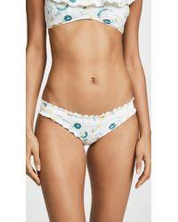 1b01c0a8804b Eberjey Lucie Sweetie Bikini Bottoms in White - Lyst