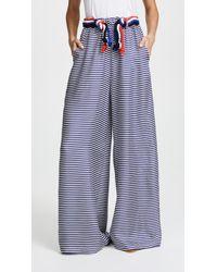 Paper London - Nevis Silk Trousers - Lyst