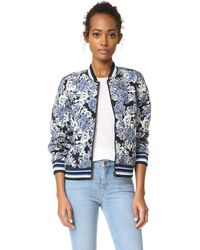 Blank - Floral Bomber Jacket - Lyst